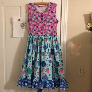 Eleanor Rose size 14/16 dress w/hair bow- NWOT